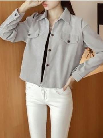 Button Jacket Gray - One Size