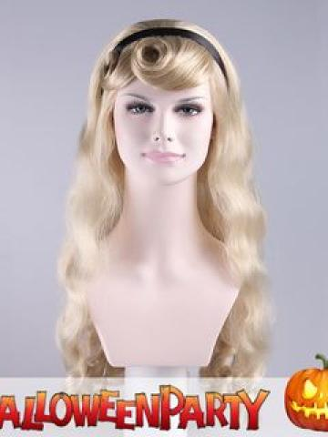 Halloween Party Wigs - Long Sally Platinum Blonde - One Size