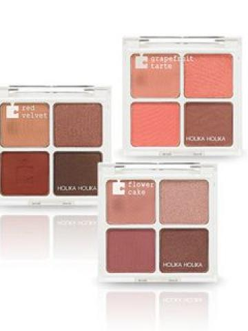 HOLIKA HOLIKA - Piece Matching Shadow Palette (3 Colors) #02 Grapefruit Tart