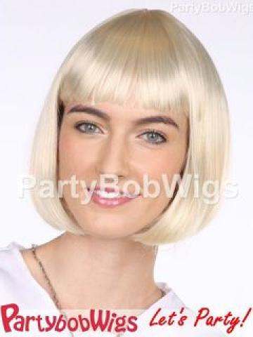 PartyBobWigs - Deluxe Capless Party Bob Wig - Blonde Blonde - One Size