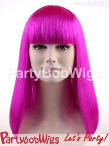 PartyBobWigs - Party Long Bob Wig - Neon Violet Neon Violet