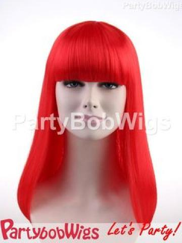 PartyBobWigs - Party Long Bob Wig - Red Red