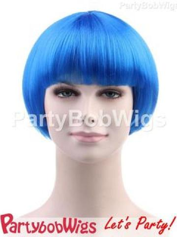 PartyBobWigs - Party Short Bob Wig - Blue Blue