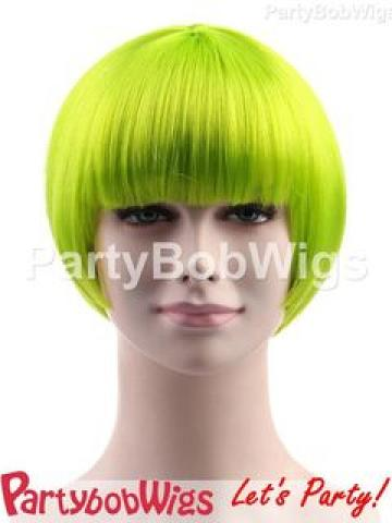 PartyBobWigs - Party Short Bob Wig - Neon Lime Neon Lime - One Size