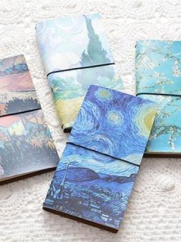 Print Faux Leather Diary Notebook
